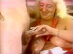 Chubby older blond gets fuck!