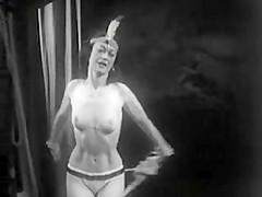 50s stripper on stage.