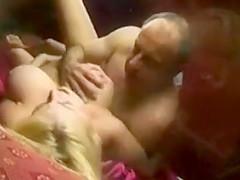 Sexy blonde bimbo fucking guy