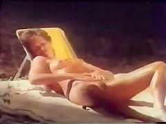 Woman dreams of camping - (Great Vintage Lesbian Scene)