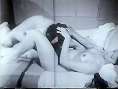 Vintagettie fucked on bed by masked guitar hero with big cock