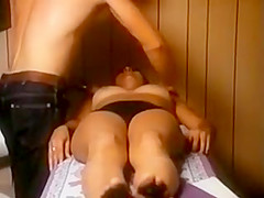 vintage busty woman in panty massage (clip loop)