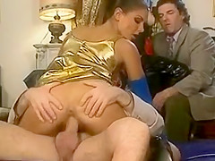 very cute woman blowjob and anal