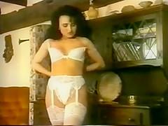 Susanna Francessca white lingerie striptease
