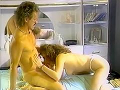 Slut masturbates and rides his cock