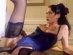 SH Retro Beautiful Hairy Lady Takes Huge Black Cock