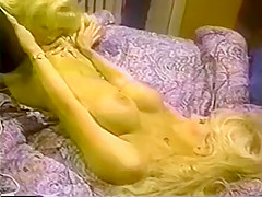 Sexy blonde lesbians test out toys on each other