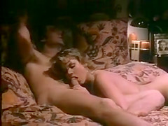 Retro guy fucks sexy blonde Shauna Grant in bed