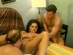Hot Brunette Sucks Dick And Gets Slammed From Behind.