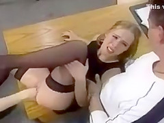 Amateur - Blond Multiple Fisting MMMF Foursome
