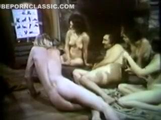 Retro Group Sex Scene